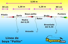 LINEA DOBLE PALITO